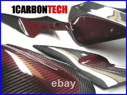 06 07 2006 2007 Suzuki Gsxr 600 750 Carbon Fiber And Red Hybrid Tank Panels
