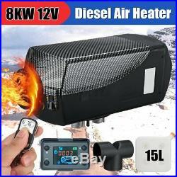 12V 8KW Diesel Air Heater Tank Remote Control Thermostat Caravan Motorhome RV AU