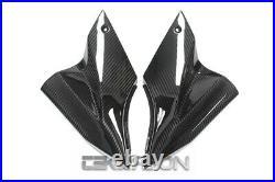 2006 2007 Kawasaki ZX10R Carbon Fiber Side Tank Panels 2x2 Twill weaves