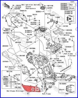 2006 2011 Kawasaki ZX14R Carbon Fiber Side Tank Panels 1x1 plain weave