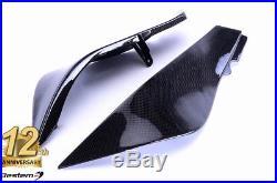 2007-2008 ZX-6R 100% Carbon Fiber Tank Side Trim Cover Panel Fairing Insert ZX6R