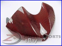 2008-2016 Yamaha R6 Gas Tank Air Box Front Cover Fairing Cowl Carbon Fiber Red