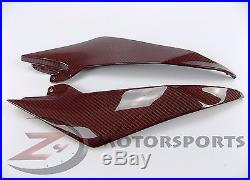 2008-2016 Yamaha R6 Gas Tank Side Trim Cover Panel Fairing Cowl Carbon Fiber Red