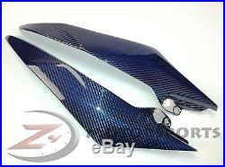 2008-2016 Yamaha R6 Gas Tank Side Trim Panel Fairing Cowl Carbon Fiber Blue