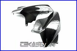 2009 2010 Aprilia Mana 850 Carbon Fiber Front Side Tank Panels 2x2 twill