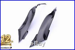 2009-2012 Ninja ZX-6R Carbon Fiber Gas Tank Side Trim Cover Frame Fairing Cowl