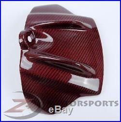 2009-2012 RSV4 Gas Tank Air Box Front Cover Trim Cowl Fairing Carbon Fiber Red