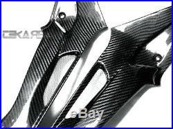 2009 2014 BMW S1000RR / HP4 Carbon Fiber Side Tank Panels 2x2 twill weaves