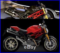 2011 2012 2013 Ducati Monster 696 Side Tank Covers Panels Carbon Fiber Fibre