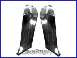2011 2015 Kawasaki ZX10R Carbon Fiber Side Tank Panels 2x2 twill weaves