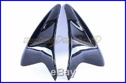 2011-2018 GSX-R 600 750 Carbon Fiber Gas Tank Side Trim Cover Panels Twill Weave
