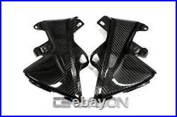 2013 2019 Honda CBR600RR Carbon Fiber Side Tank Panels 2x2 twill weave
