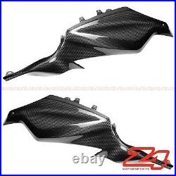 2014-2017 FZ-07 MT-07 Carbon Fiber Gas Tank Side Cover Trim Panel Fairing Cowl