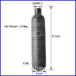 30Mpa 4500Psi 0.58L Carbon Fiber Tank Air Bottle M18x1.5 For Paintball PCP