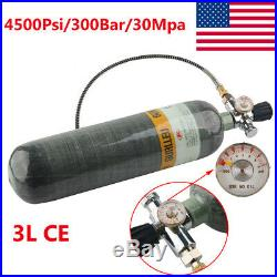 3L 4500psi Carbon Fiber Air Tank & Fill Station With Valve For Paintball Scuba