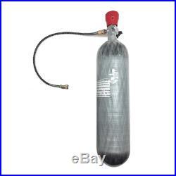3L Carbon Fiber Paintball Air Tank With Valve Gauge PCP Game SCBA 30mpa 4500psi