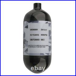 4500psi 1.1L 68Ci Carbon Fiber Tank Paintball Compressed Air Scuba Cylinder US
