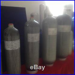 4500psi 3L CE Carbon Fiber Cylinder Tank Air Bottle Fill Station PCP Paintball