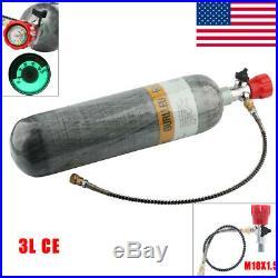 4500psi PCP Airgun 3L CE 30cft Carbon Fiber Paintball Air Tank&Valve For Scuba