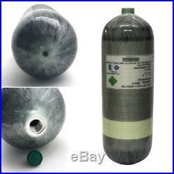 9L 4500Psi Air Tank DOT Carbon Fiber Cylinder For PCP Paintball Scuba Game SCBA