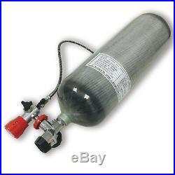 9L CE 4500Psi Carbon Fiber Cylinder EEBD Bottle Scuba Diving Tank Fireman Rescue