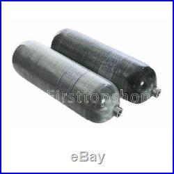9L Positive Pressure Scuba Diving Tank, Carbon Fiber Aluminum Liner Air Cylinder