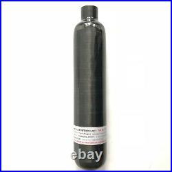 Acecare Carbon Fiber Hpa Tank 4500Psi 500cc CE Black Mini Compressed Air Bottle