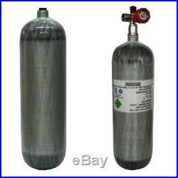 Air Tank PCP 6.8L CE Gas Cylinder Carbon Fiber Scuba Tank with Value Rifle SCBA