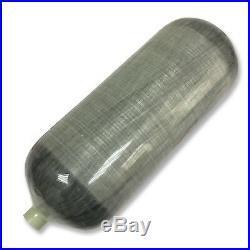 Airgun PCP 12L Carbon Fiber Scuba Tank 4500Psi Air Cylinder Bottle Filling Kits