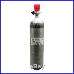 Airsoft PCP 3L CE 300bar SCUBA Cylinder Carbon Fiber Air Tank With 4500psi Valve