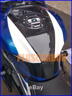 BMW K1200S K1300S Center Tank Cover Twill Carbon Fiber GLOSSY (Fits BMW K1200S)