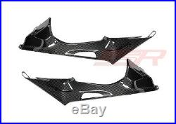 BMW S1000RR HP4 Under Tank/Seat Side Panel Fairing Cover Set Carbon Fiber Twill