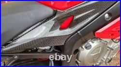 Bmw S1000r S1000rr 2015-18 Carbon Tank Side Panels In Twill Gloss Fibre Fairing