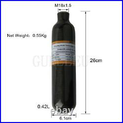CE 0.42L Carbon Fiber Cylinder 4500psi Air Tank M18x1.5 For Paintball Airsoft US
