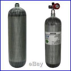 Carbon Fiber 95cf Scuba Diving Air Tank 6.8L Compressed Air Cylinder