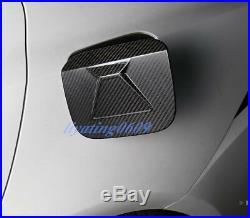 Carbon Fiber Fuel Tank Gas Oil Box Cover Trim For LEXUS IS200T/250/300/350 13-18