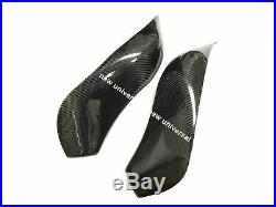 Carbon Fiber Gas Tank Protector Covers For Kawasaki ZX6R ZX636 2009-2015