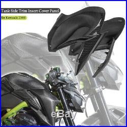 Carbon Fiber Look Gas Tank Side Trim Cover Panel Fairing Cowl For Kawasaki Z900