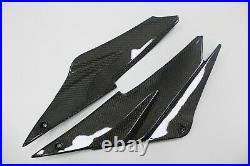 Carbon Fiber Tank Side Cover Panel Trim Fairing For Kawasaki ZX6R 2005-2006