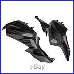 Carbon Motorcycle Side Fiber Gas Tank Side Cover Panel Fairing For Yamaha MT07