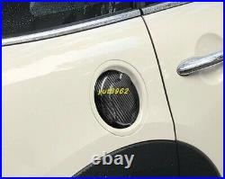 Carbon fiber Car Oil Gas Tank Locking Cap trim For BMW Mini Cooper F55 F56 F57
