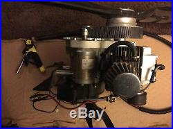 Complete solo 210 engine with carbon fiber propeller and fuel tank