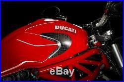 DUCATI Monster 797/821/1200/1200S Carbon Tank Sliders Strauss Satin Matte