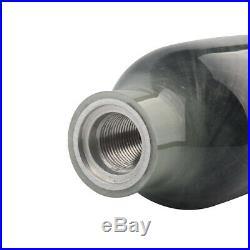Diving 4500Psi M18x1.5 Tank High Compressed Air Bottle Carbon Fiber 0.37L Silver