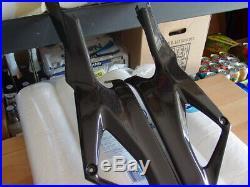 Ducati 1098 carbon fiber fuel tank side fairings-new