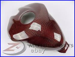 Ducati 899 959 1199 1299 Gas Tank Fuel Cover Panel Fairing Cowl Carbon Fiber Red
