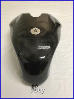 Ducati 916 Carbon Fiber Fuel Tank with Gas Cap and Keys and Metal Guide