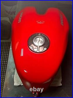 Ducati 998 OEM Fuel Tank Red with Carbon Fiber Ducati Performance Fuel Cap