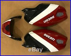 Ducati Monster 696 796 1100 Carbon Fiber Fuel Tank Covers Rear Seat Cowl Corse
