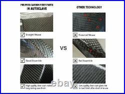 For BMW S1000RR 2019-2020 Carbon Fiber Fuel Tank Gas Side Trim Cover Fairing